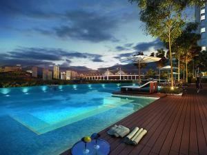 The swimming pool at or close to Modern Scandinavian Studio Unit at Queensbay Mall