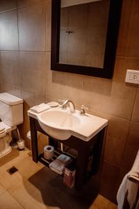 A bathroom at Beautiful Apartments in Downtown Ushuaia