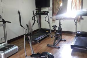 The fitness centre and/or fitness facilities at Duplex aconchegante Teresópolis