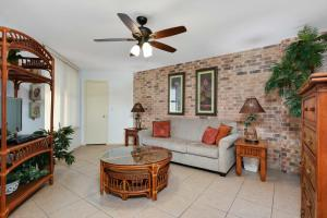 A seating area at Beachfront Port Aransas Condo with Pool Access!