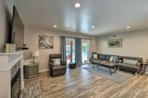 A seating area at Updated Sacramento Home with Grill, Patio, and Pool!