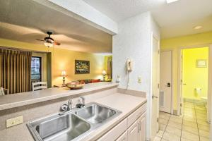 A kitchen or kitchenette at Waterfront Ocean Dunes Villa at Sands Resorts