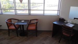 A seating area at Kuretake Inn Gotemba Inter Gold Cabin