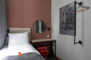 Cama o camas de una habitación en Citybox Oslo