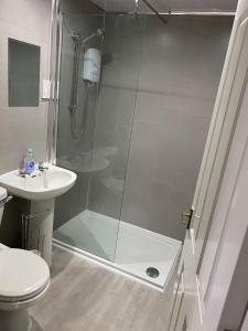 A bathroom at The Victoria Walshaw
