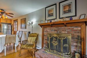 A seating area at West Yarmouth Home - 5 Min Walk to Beach!