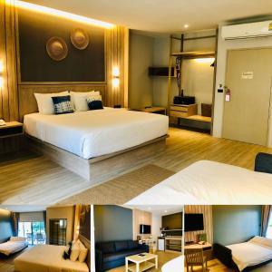 Ein Bett oder Betten in einem Zimmer der Unterkunft Palm Galleria Resort