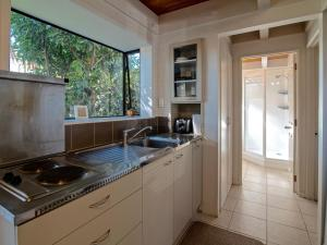 A kitchen or kitchenette at Akaroa Jacques Apartment
