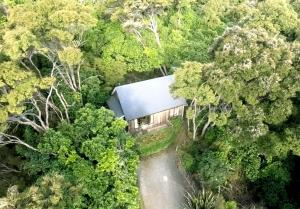A bird's-eye view of Secluded Getaway - Romantic and Tranquil Akaroa Holiday Home