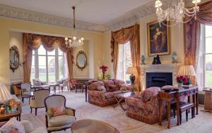 A seating area at Lucknam Park Hotel