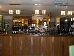 The lounge or bar area at Hopping Hare