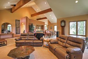 A seating area at Spacious Home with Mtn Views, 2Mi to Steamboat Resort