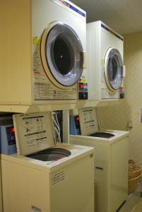 A kitchen or kitchenette at Tsuwano Hotel