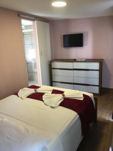 Cama ou camas em um quarto em Pousada Vila Appia