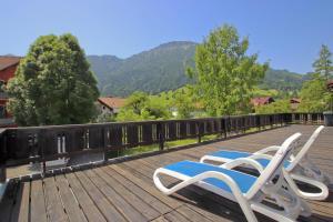 Der Swimmingpool an oder in der Nähe von Gasthof Aggenstein
