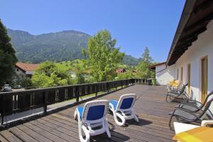 Ein Balkon oder eine Terrasse in der Unterkunft Gasthof Aggenstein
