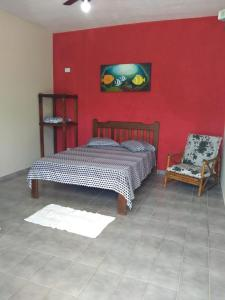 Cama ou camas em um quarto em Dolce Mar Ubatuba Suites