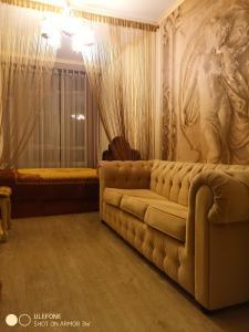 Гостиная зона в Apartment in Koraloviy Ostrov