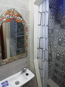 A bathroom at Hotel Abi khancha