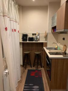 ครัวหรือมุมครัวของ Maison Blanche Guest Rooms