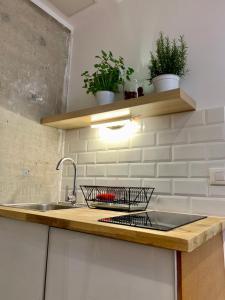 A kitchen or kitchenette at Estudio Las Piedras