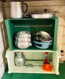 A kitchen or kitchenette at Suite Pé na Areia em Ilhabela