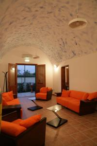 A seating area at Fiumara Del Sossio