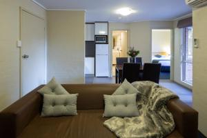 A seating area at ibis Styles Canberra