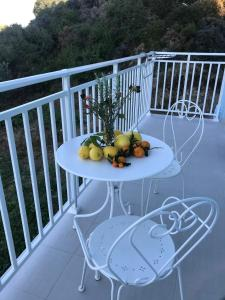 A balcony or terrace at Filoxenia Apartments & Studios