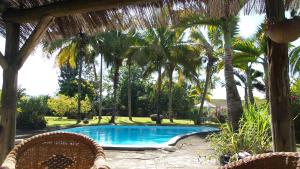 The swimming pool at or near Domaine de Mahavel