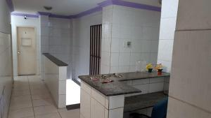 A bathroom at Pousada costajunior