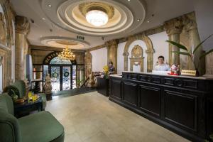 The lobby or reception area at Hanoi Media Hotel & Spa