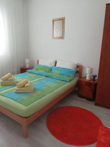 A bed or beds in a room at Apartman Zana