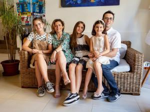 A family staying at Hotel Villa Lalla