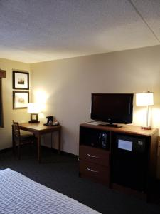A television and/or entertainment center at AmericInn by Wyndham Iron River