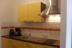 Küche/Küchenzeile in der Unterkunft Pension Am Steinberg