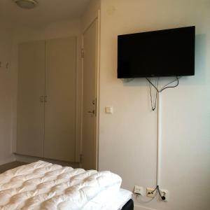 En tv och/eller ett underhållningssystem på Gotlands Idrottscenter