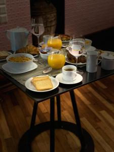 Breakfast options available to guests at Step One | Luxury Suites right in the heart of Acropolis next to metro station