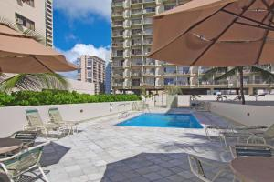 The swimming pool at or near Waikiki Park Heights #1812