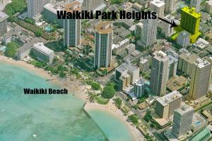 A bird's-eye view of Waikiki Park Heights #1711