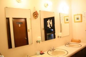 A bathroom at Pension Half Time