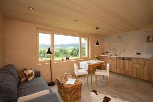 Ein Sitzbereich in der Unterkunft Gartenstudio Waldblick