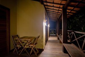 Uma varanda ou terraço em Cais Dourado Pousada