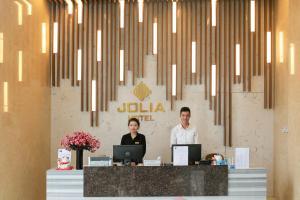 Лобби или стойка регистрации в Jolia Hotel & Apartment