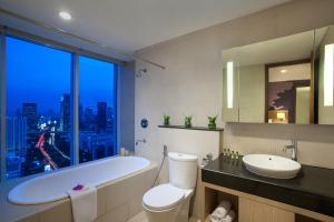 A bathroom at Citadines Rasuna Jakarta