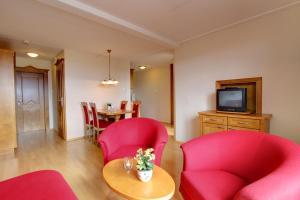 Et sittehjørne på Bergo Hotel, Apartments and Cottages