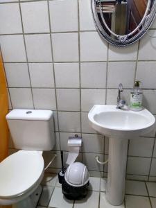 Um banheiro em Dunas Hostel