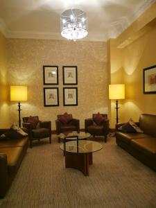 A seating area at Frederick House Hotel