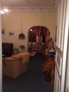Ein Sitzbereich in der Unterkunft Villa Hebel