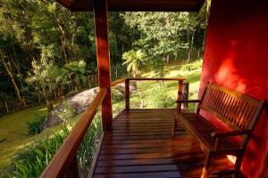 Uma varanda ou terraço em Pousada Ahavanoah